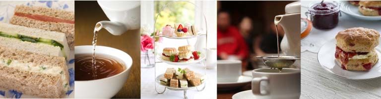 Image strip inspired by the perfect afternoon tea...