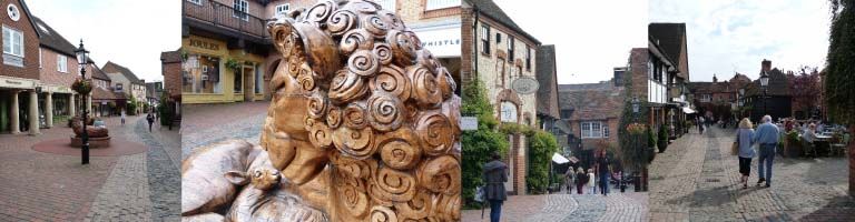 The Lion & Lamb Yard, off Farnham High Street