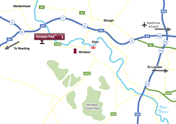 Location Map Ferndale Park, Bray, Berkshire