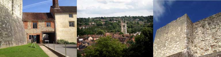 Views of and from Farnham Castle
