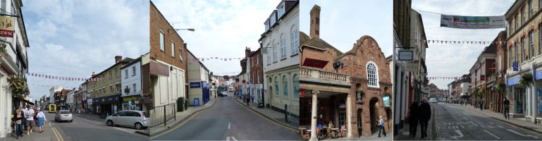 Farnham High Street on a sunny September afternoon