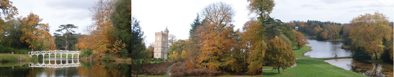 Painshill Park is just under half an hour's drive from Merrywood Park, Box Hill, Surrey